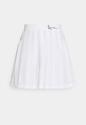 SMALL SIGNATURE TENNIS SKIRT - Mini skirt - white
