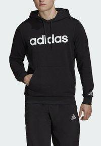 adidas Performance - ESSENTIALS FRENCH TERRY LINEAR LOGO HOODIE - Luvtröja - black - 2