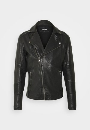 ARNO - Leather jacket - black