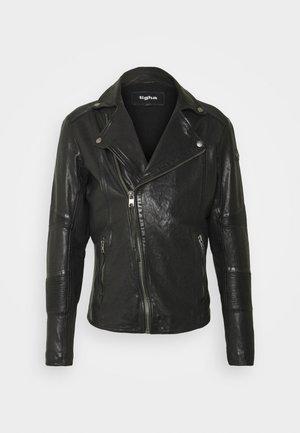 ARNO - Kožená bunda - black