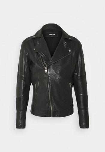 ARNO - Leather jacket - black