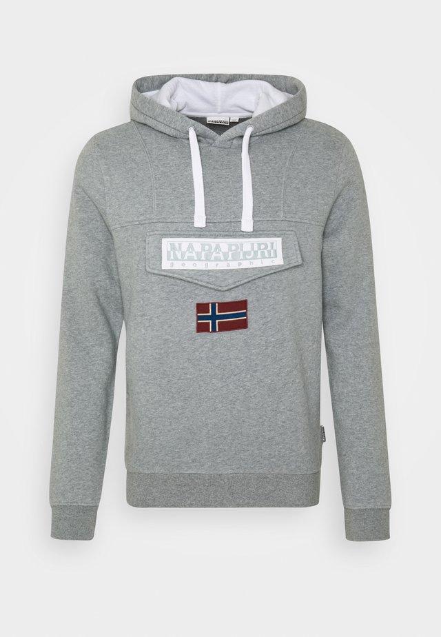 BURGEE WIN - Sweat à capuche - med grey