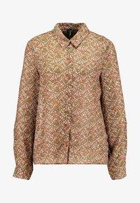 Vero Moda - VMAMELIA FOLD UP - Button-down blouse - tortoise shell - 3