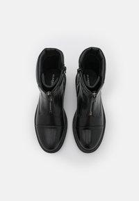 Glamorous Wide Fit - Enkellaarsjes met plateauzool - black - 5
