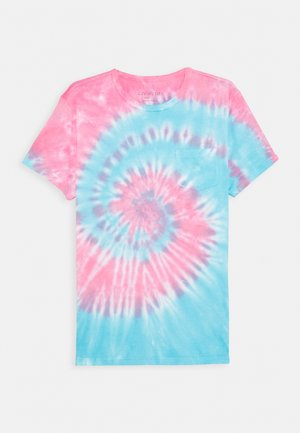 TIE DYE TEE - Camiseta estampada - blue/red