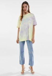 Bershka - Print T-shirt - purple - 1