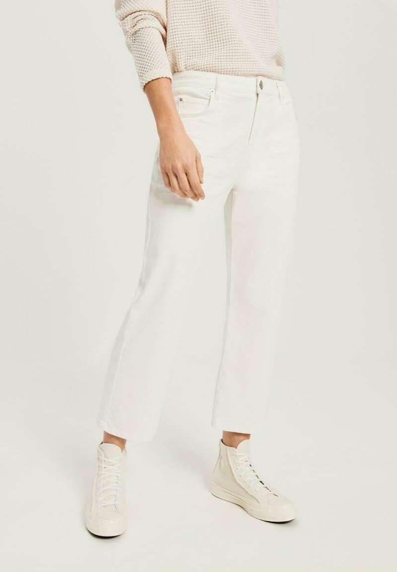 Opus - Straight leg jeans - white