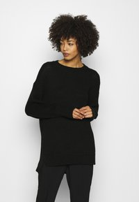 Marc O'Polo - LONGSLEEVE ROUND NECK - Pullover - black - 0