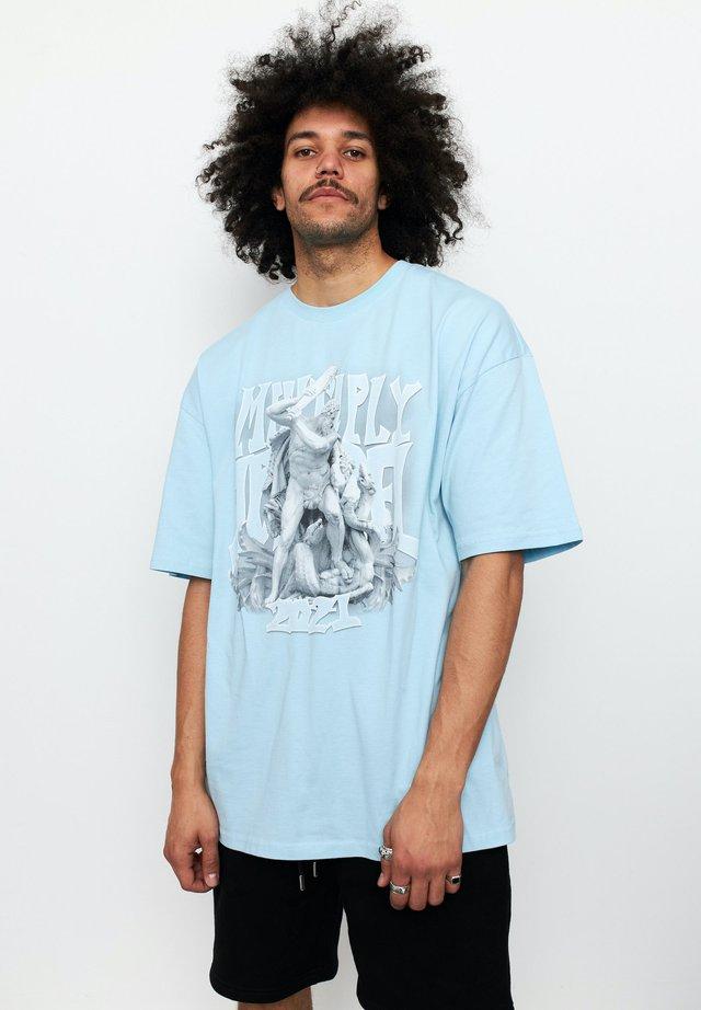 STATUE - T-shirt print - baby blue