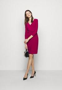 Lauren Ralph Lauren - MID WEIGHT DRESS - Shift dress - modern dahlia - 1