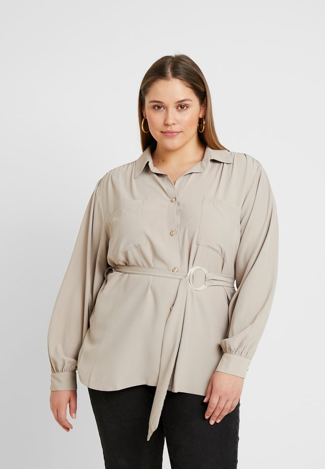 Button-down blouse - mink