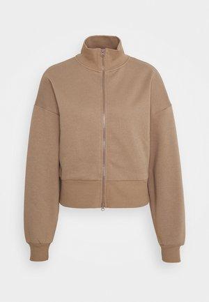 DOUBLE ZIP - Zip-up hoodie - beige/taupe gray