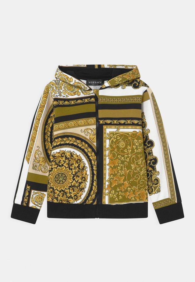 HERITAGE PRINT UNISEX - Zip-up hoodie - white/gold/kaki