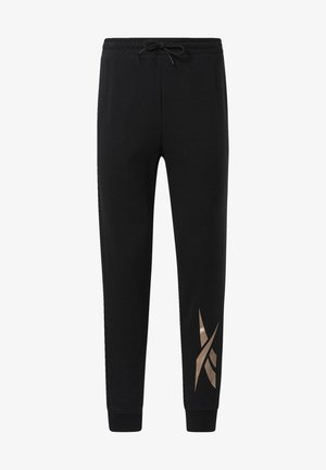 TRAINING ESSENTIALS GOLD VECTOR JOGGERS - Tracksuit bottoms - black