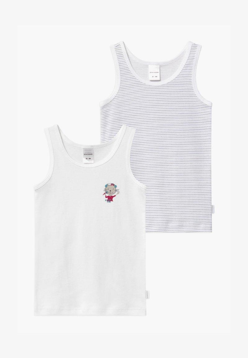 Schiesser - KIDS 2 PACK - Undershirt - white