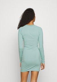 Missguided - BRANDED CORSET WAIST DRESS - Vestido de tubo - blue - 2