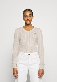 Hollister Co. - CABLE LAYER ON - Jumper - oatmeal - 0