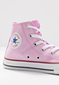 Converse - CHUCK TAYLOR ALL STAR PINSTRIPE - High-top trainers - peony pink/garnet/white - 2