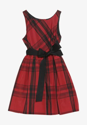 PLAID TAFFET DRESSES - Cocktailkleid/festliches Kleid - red/black