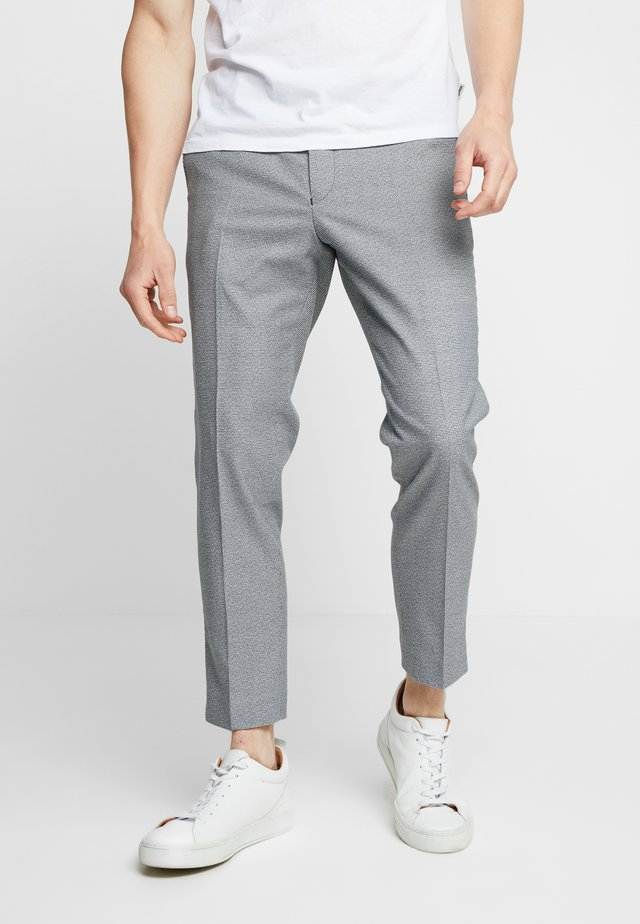 TAPERED  - Trousers - navy/white
