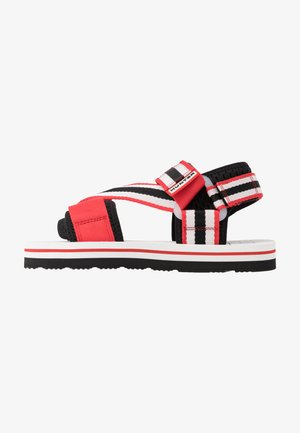 WOMENS ORIGINAL BEACH - Sandály - hunter red/hunter white/black