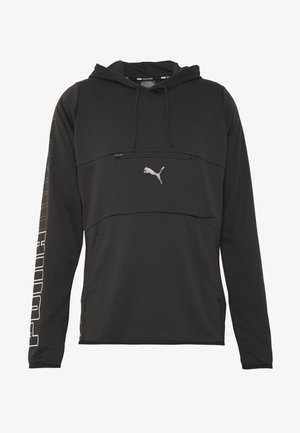 POWER HOODIE - Jersey con capucha - black