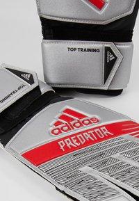 adidas Performance - PRED - Goalkeeping gloves - silver metallic/black - 5