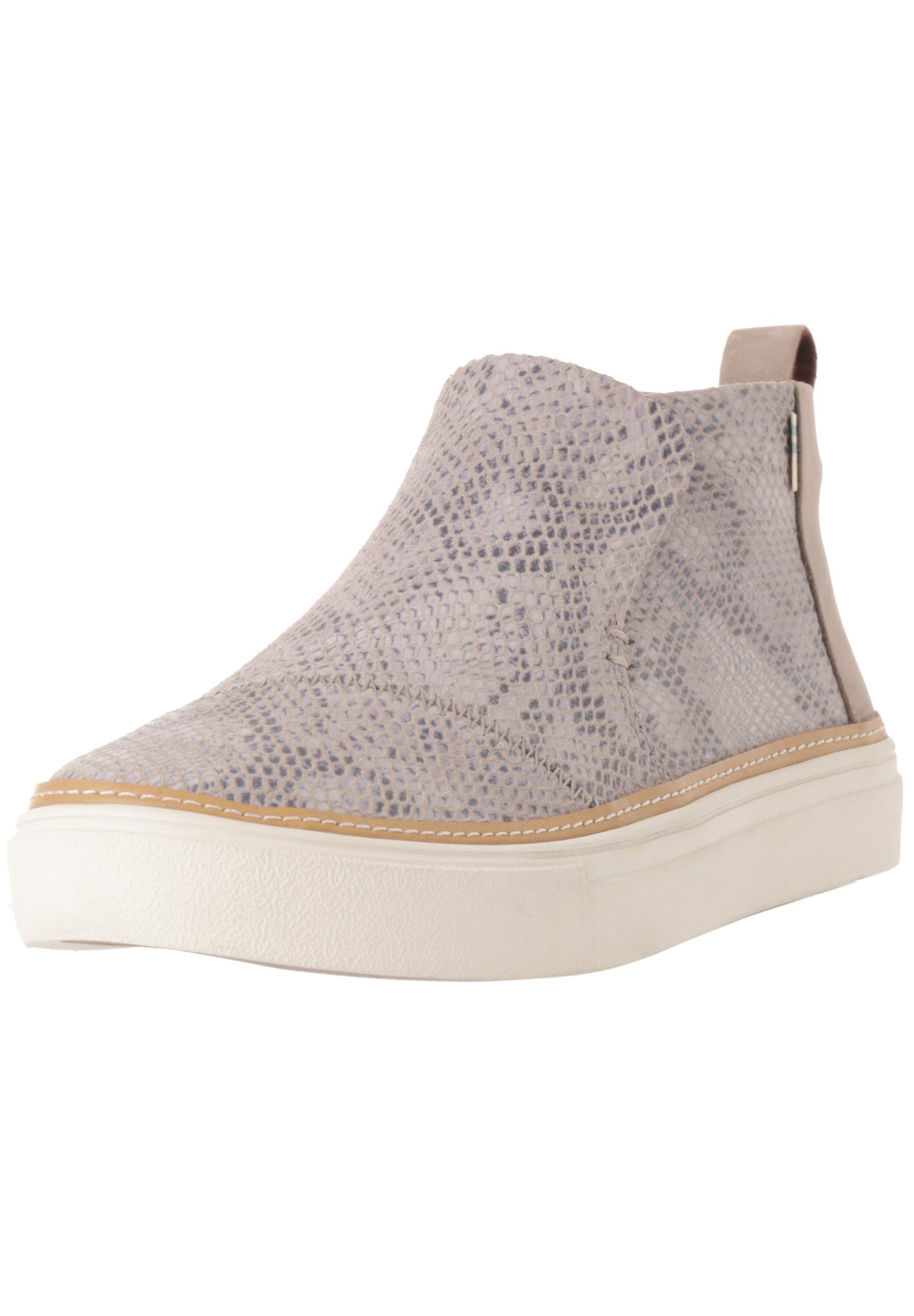 TOMS PAXTON Sneaker low cobblestone snake printed suede/grau