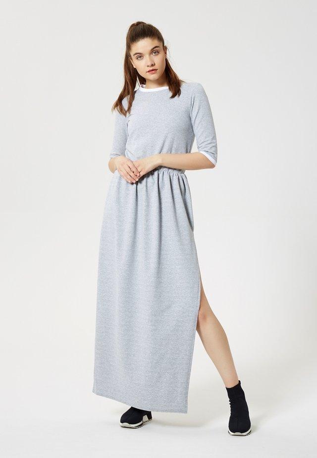 Vestito lungo - gris mélangé