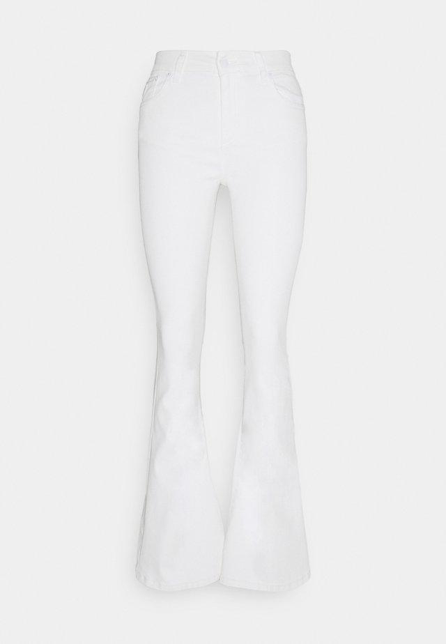 RAVAL - Kangashousut - white
