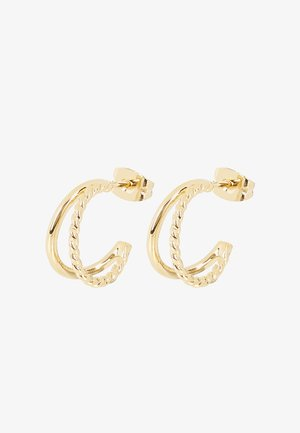 ZARINA TWISTED DOUBLE ROW GOLD - Earrings - gold