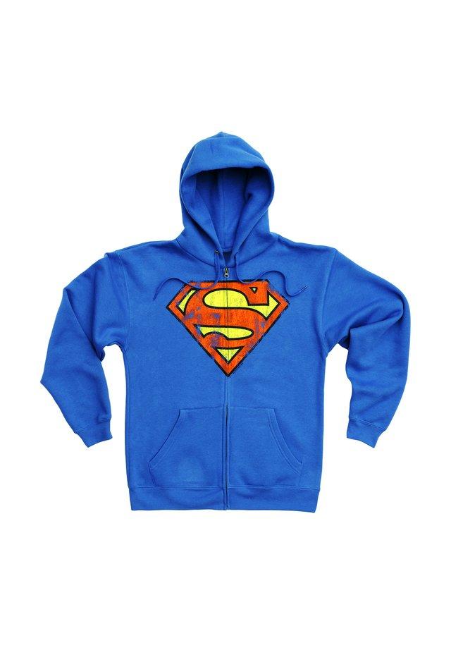 SUPERMAN-LOGO - Zip-up hoodie - blau