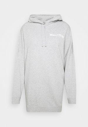 Hoodie - chalk grey melange