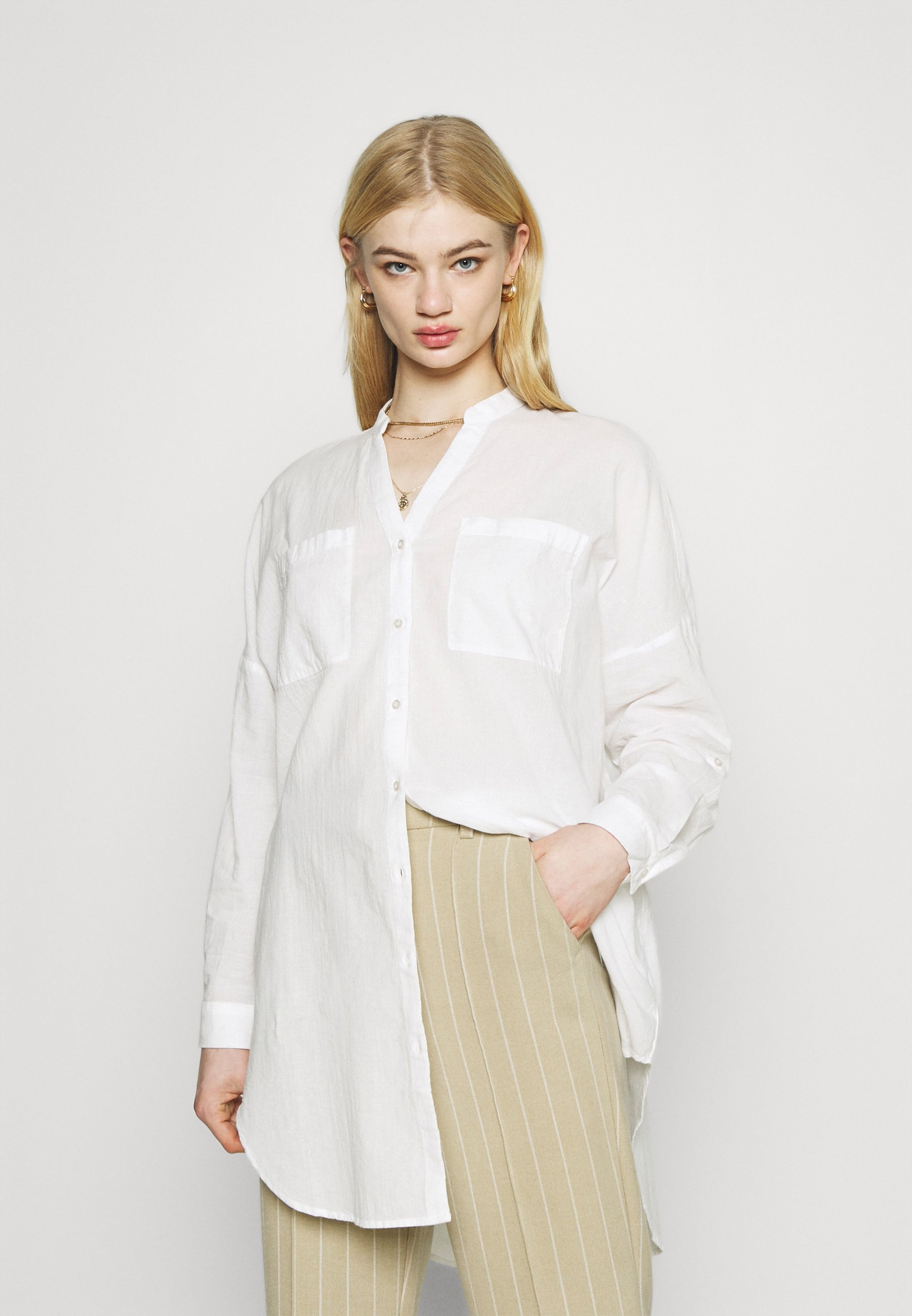 Femme VMISABELL FOLD UP TUNIC - Blouse