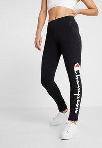 Champion - LEGGINGS - Legginsy - black - 0