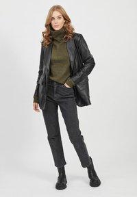 Object - Leather jacket - black - 1
