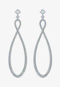 Swarovski - SWAROVSKI INFINITY HOOP PIERCED EARRINGS, WHITE, RHODIUM PLATED - Earrings - silber - 1