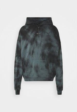 OVERSIZED TIE DYE HOOD UNISEX - Sweatshirt - black/green