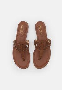 Lauren Ralph Lauren - AUDRIE - T-bar sandals - deep saddle tan - 4