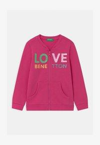Benetton - veste en sweat zippée - pink - 0