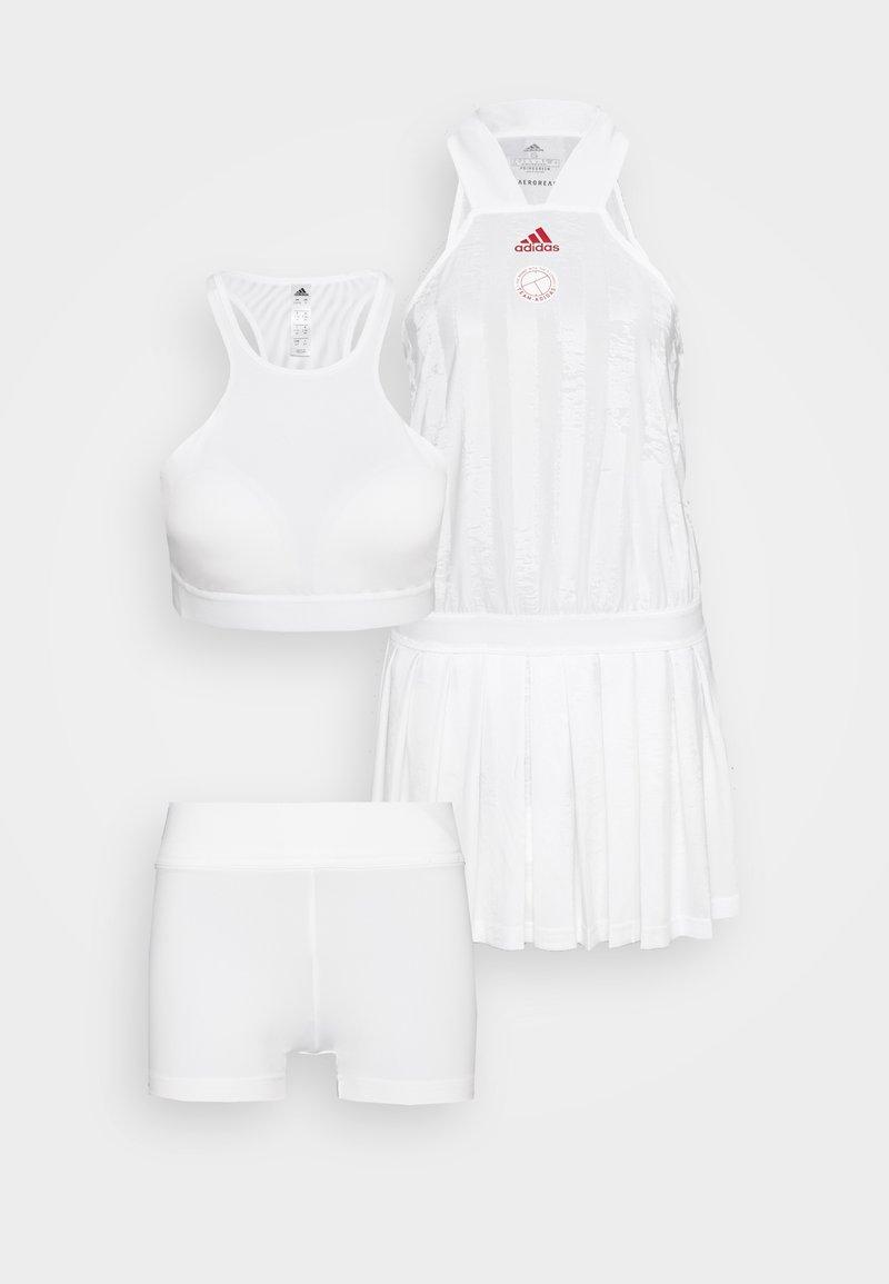 adidas Performance - ALL IN ONE - Jurken - white/scarlett