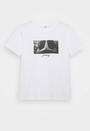 PRAY TEE - Camiseta estampada - white