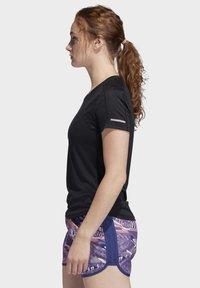 adidas Performance - 3-STRIPES RUN T-SHIRT - Print T-shirt - black - 2