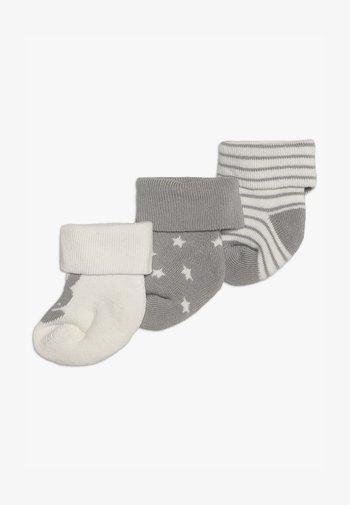 NEWBORN WELCOME BABY 3 PACK - Socks - silber malange