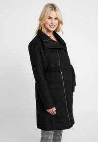 LOVE2WAIT - COAT DOUBLE ZIPPER - Classic coat - black - 0