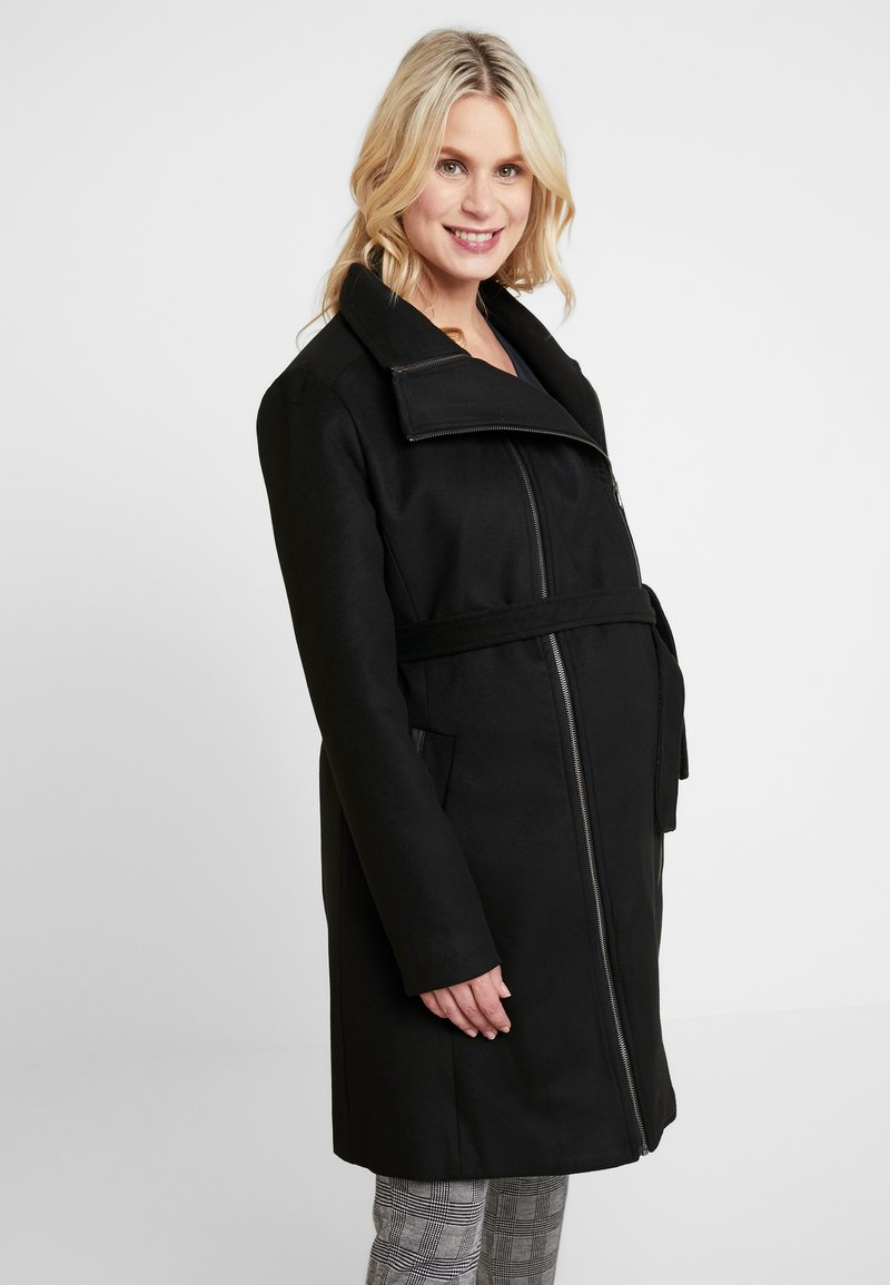 LOVE2WAIT - COAT DOUBLE ZIPPER - Classic coat - black