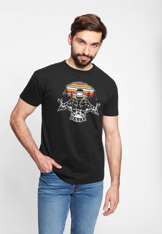 BIKER - Print T-shirt - black