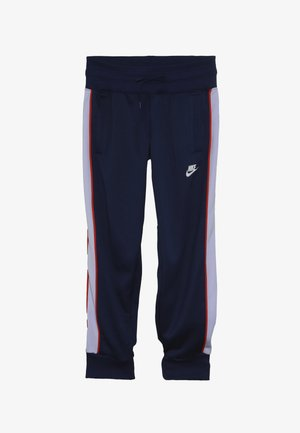 HERITAGE - Tracksuit bottoms - blue void/lavender mist/habanero red/white