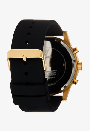 MENS DRESS - Chronograph watch - black/gold