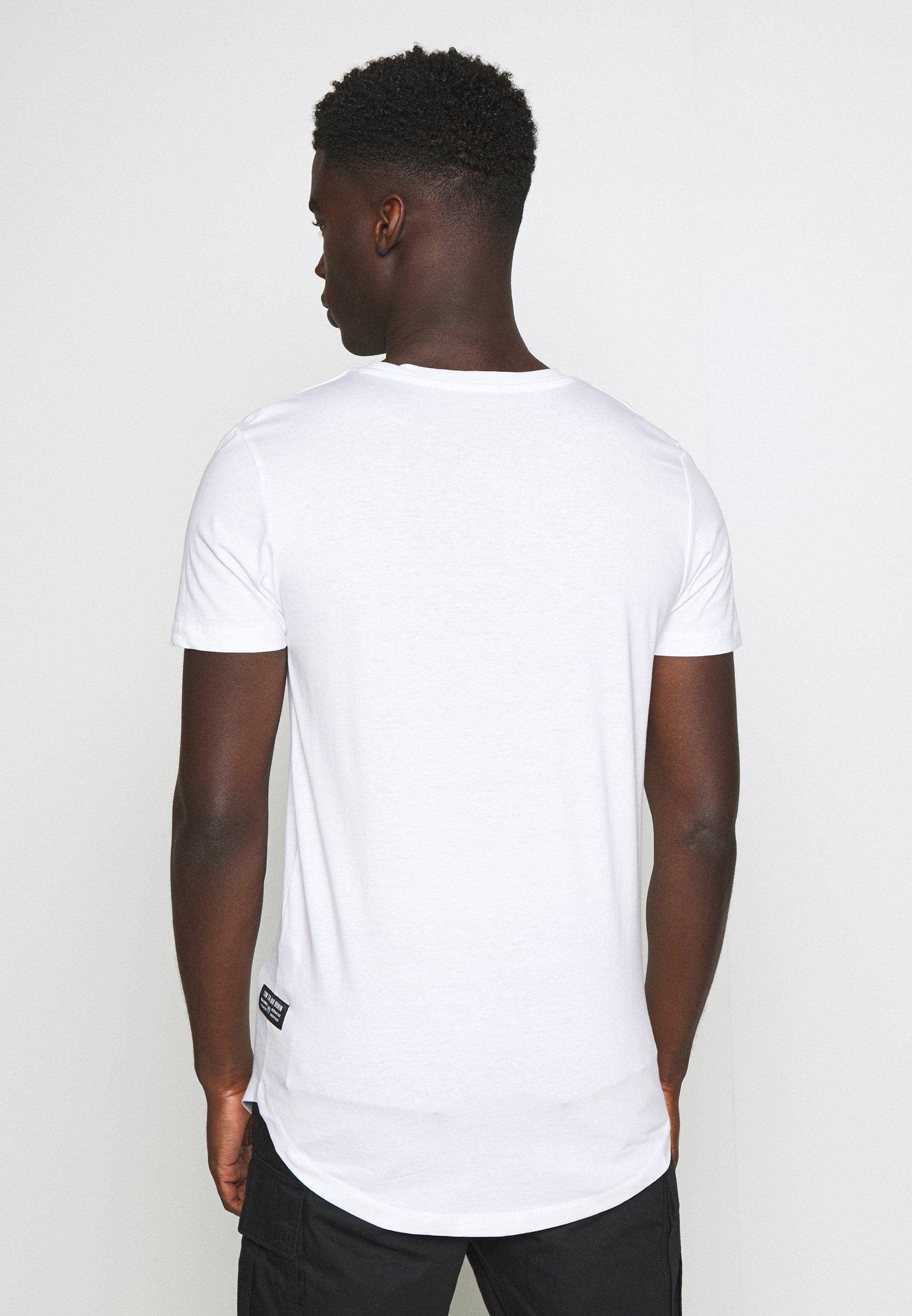 TOM TAILOR DENIM BADGE - Basic T-shirt - white t1xHf
